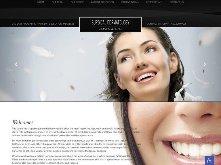O'Leigh Surgical Dermatology Website Screenshot from url dermatologysurg.com