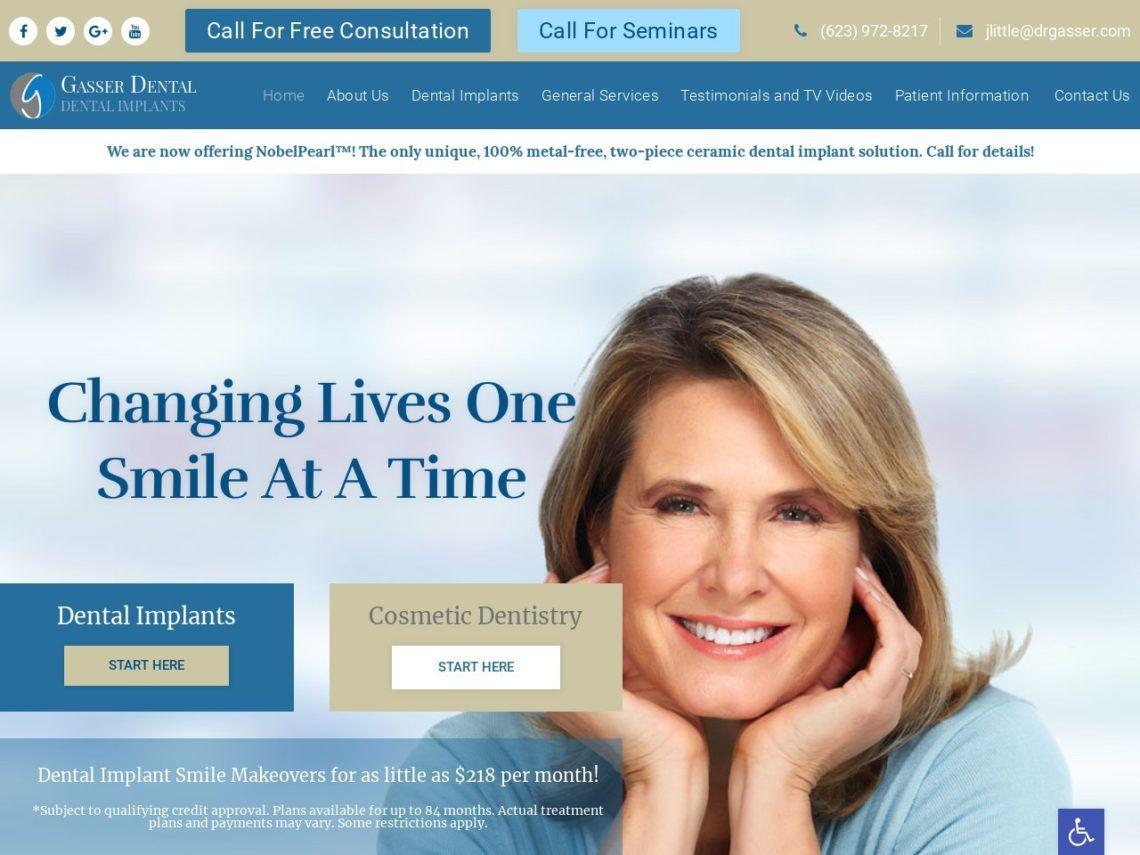 Gasser Dental Website Screenshot from url drgasser.com