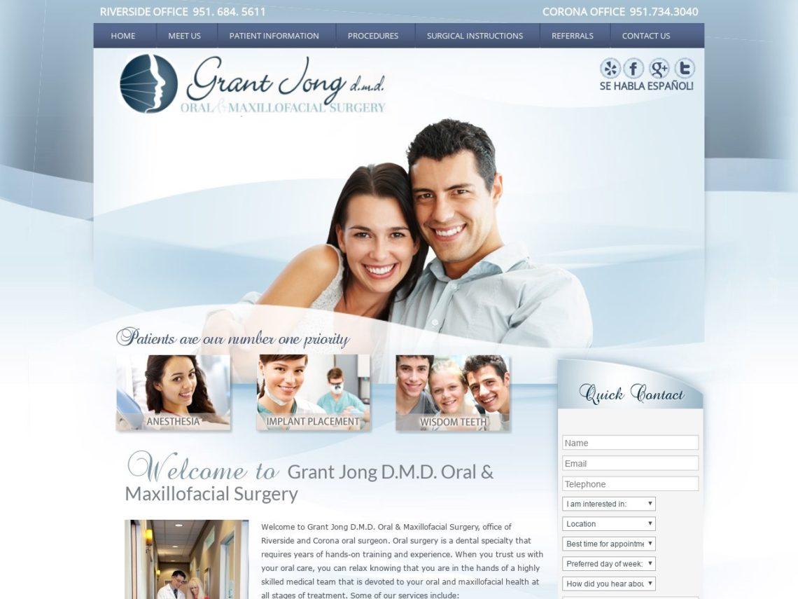 Grant Jong D.M.D. Website Screenshot from url drgjong.com