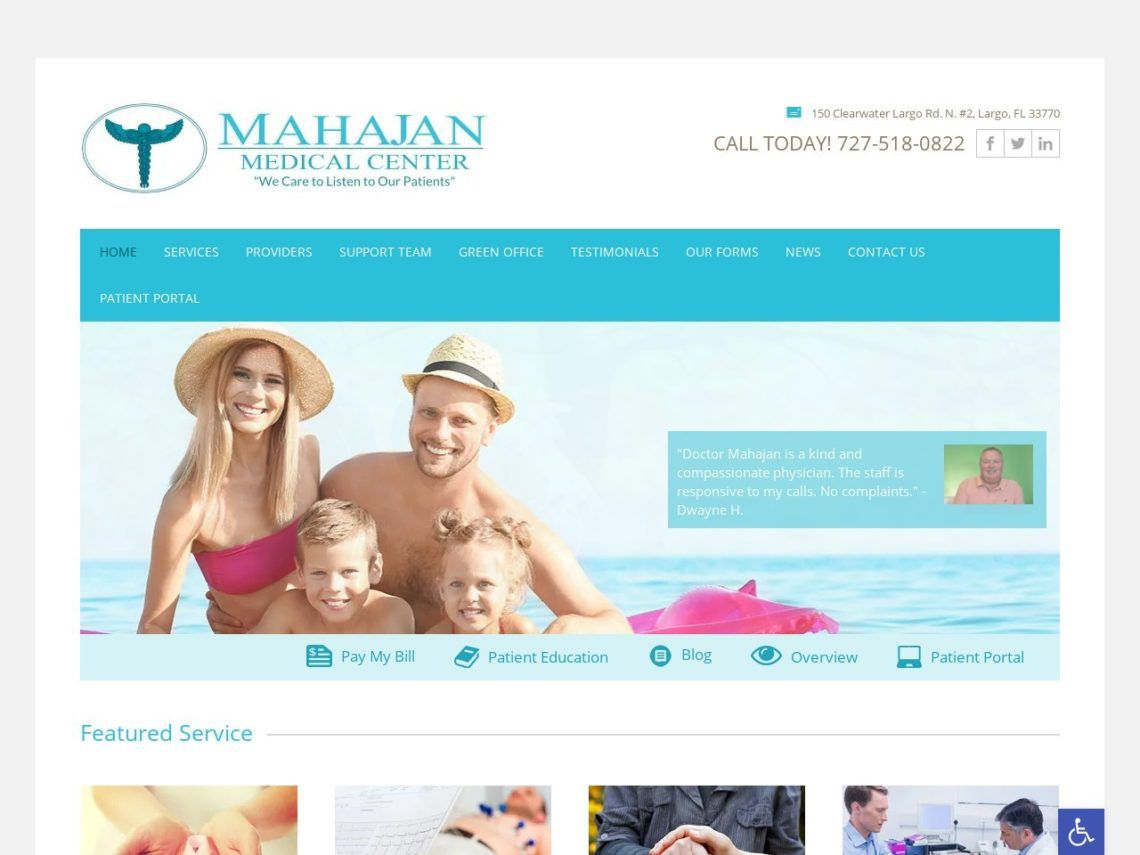 Mahajan Medical Center Website Screenshot from url drranjanmahajan.com