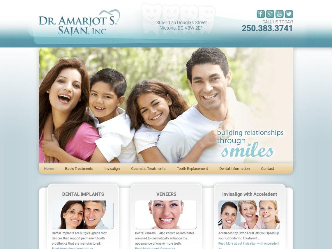 Dr. Amarjot S. Sajan Website Screenshot from url drsajan.ca
