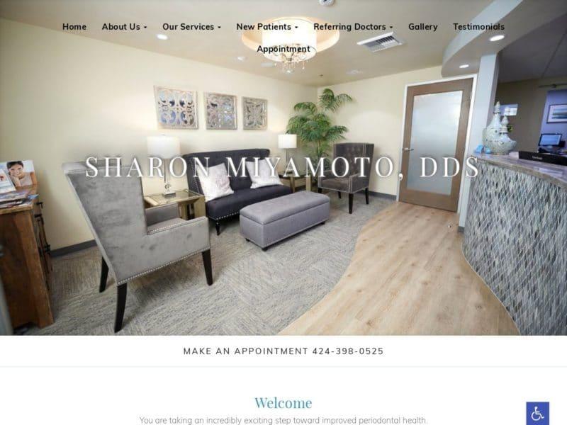 Sharon Miyamoto DDS Website Screenshot from url drsharonmiyamotodds.com