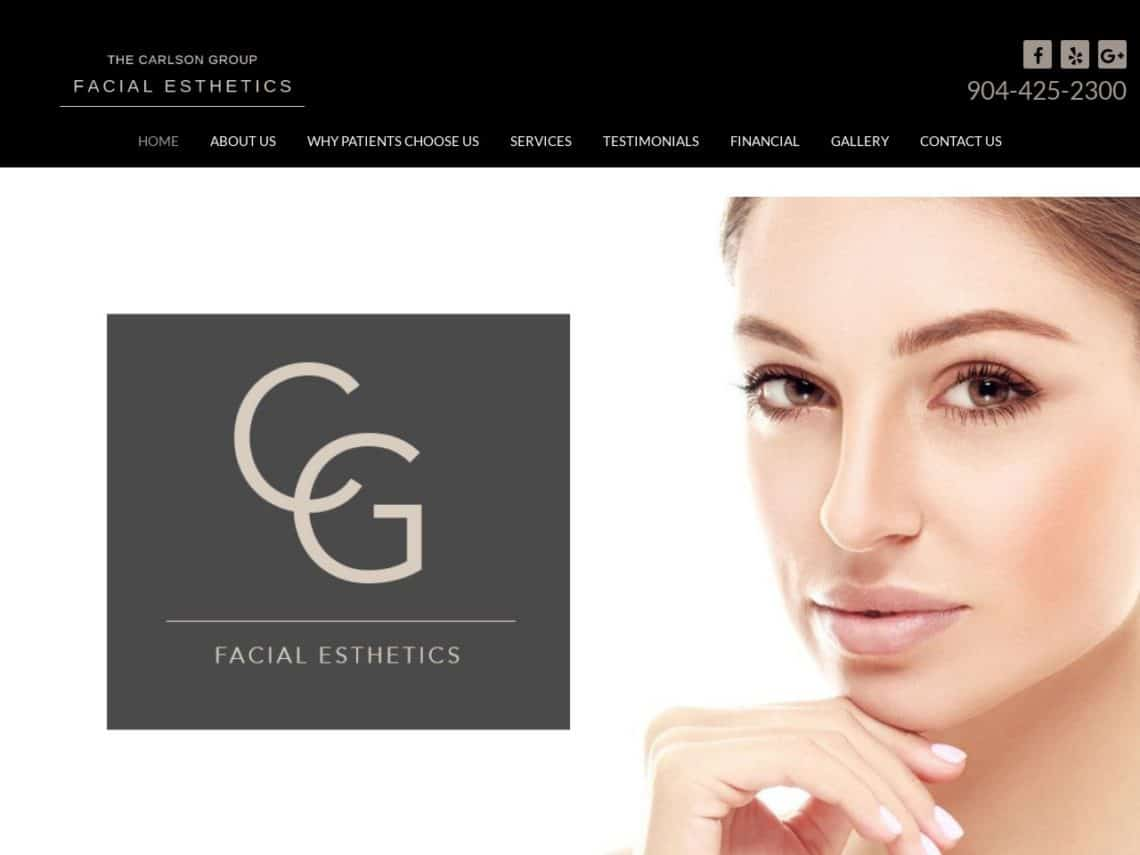 Facial Esthetics - Carlson Group Website Screenshot from url facialesthetics.com