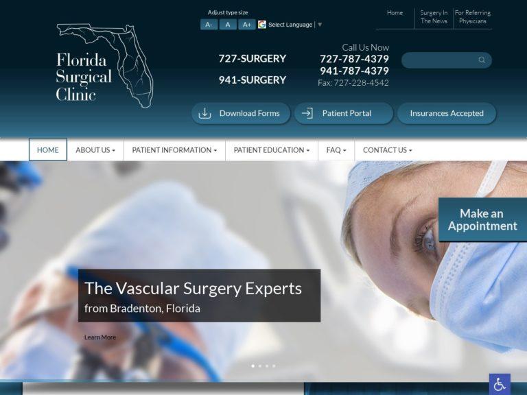 Florida Surgical Clinic Website Screenshot from url floridasurgicalclinic.com