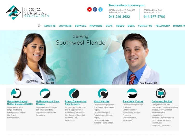 Florida Surgical Specialists Website Screenshot from url floridasurgicalspecialists.com