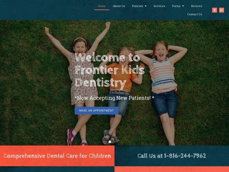 Frontier Kids Dentistry Website Screenshot from url frontierkidsdentistry.com