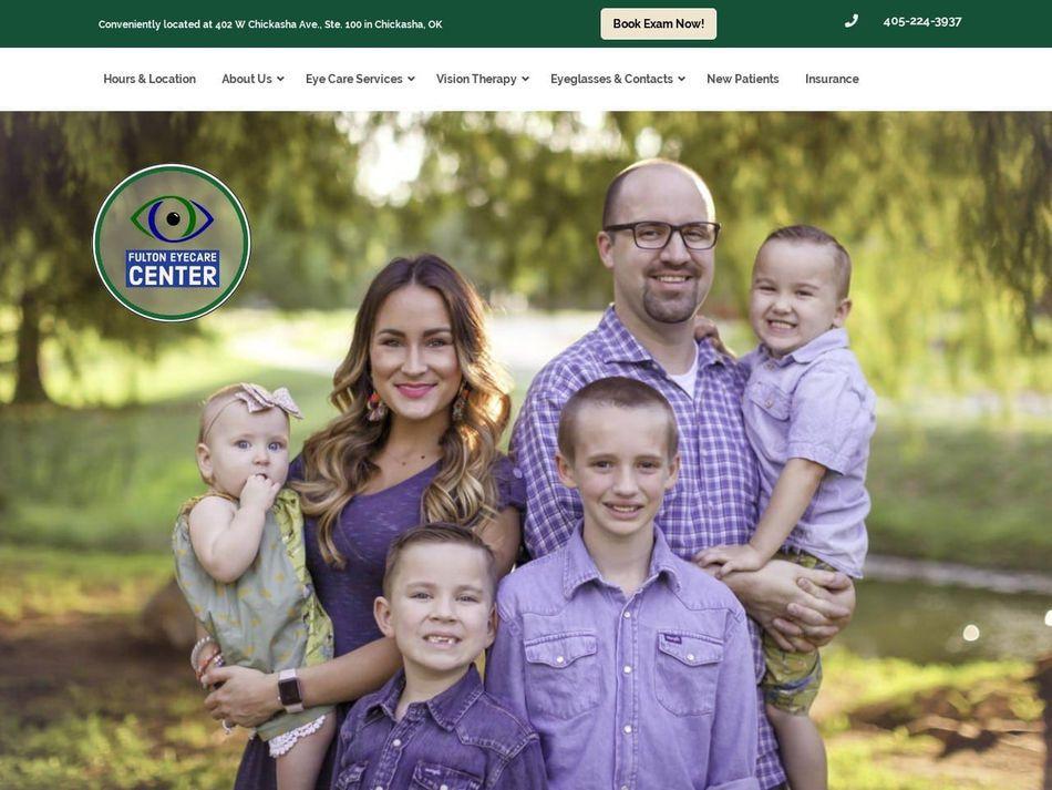 Fulton EyeCare Center Website Screenshot from url fultoneyecenter.com