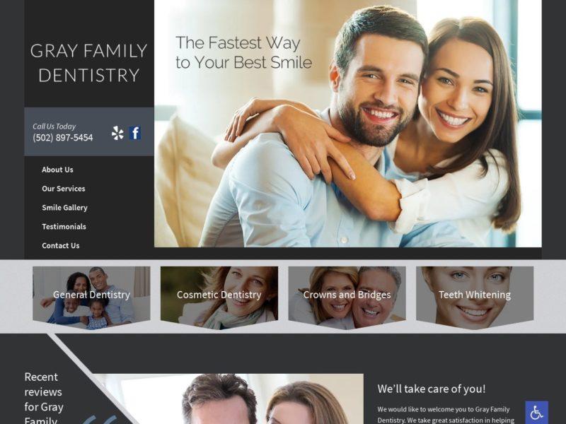 Gray Family Dentistry Website Screenshot from url grayfamilydentistry.com