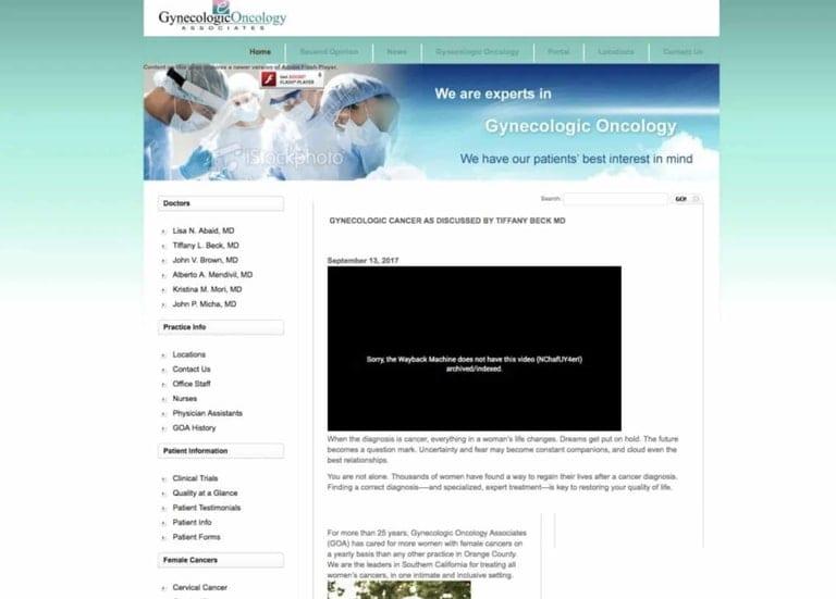 Gyenocologic Oncology Before Website Update
