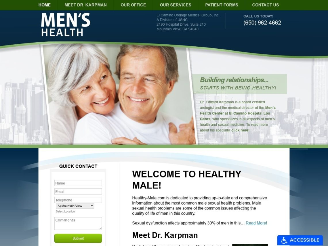 Healthy Males Website Screenshot from url healthy-male.com