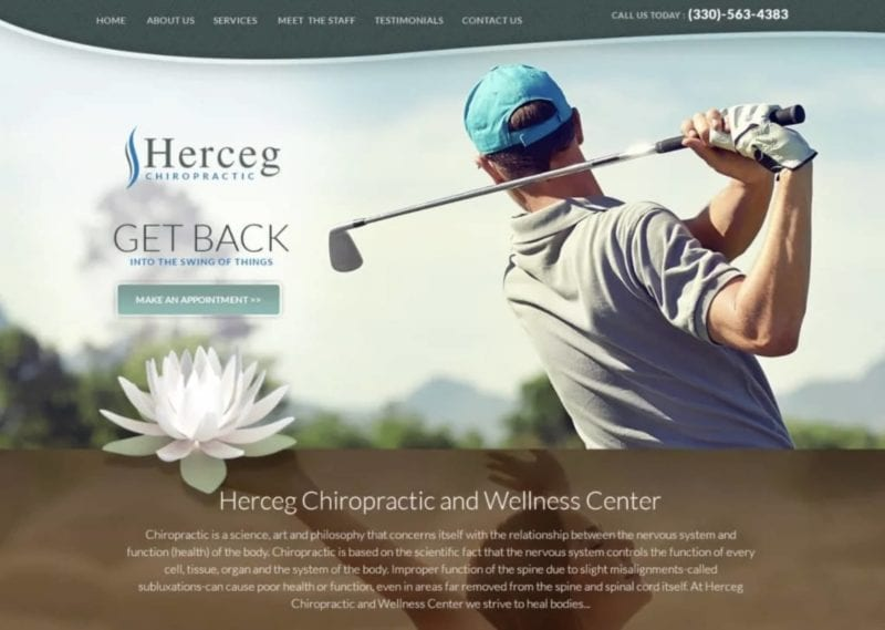 Herceg Chiropractic Center Website