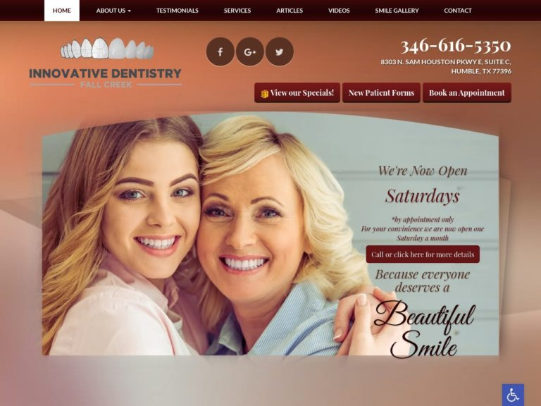 Innovative Dentistry Website Screenshot from url innovativedentistryfc.com