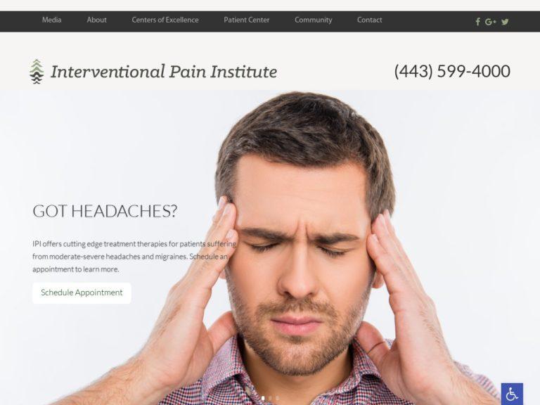 Interventional Pain Institute Website Screenshot from url ipiw.org