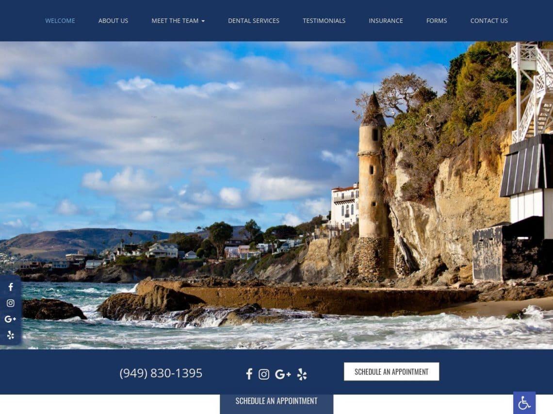 The Hills Modern Dentistry Website Screenshot from url lagunahillsdentists.com