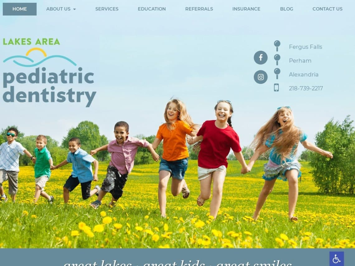 Duluth Pediatric Dentistry Website Screenshot from url lakesareasmiles.com