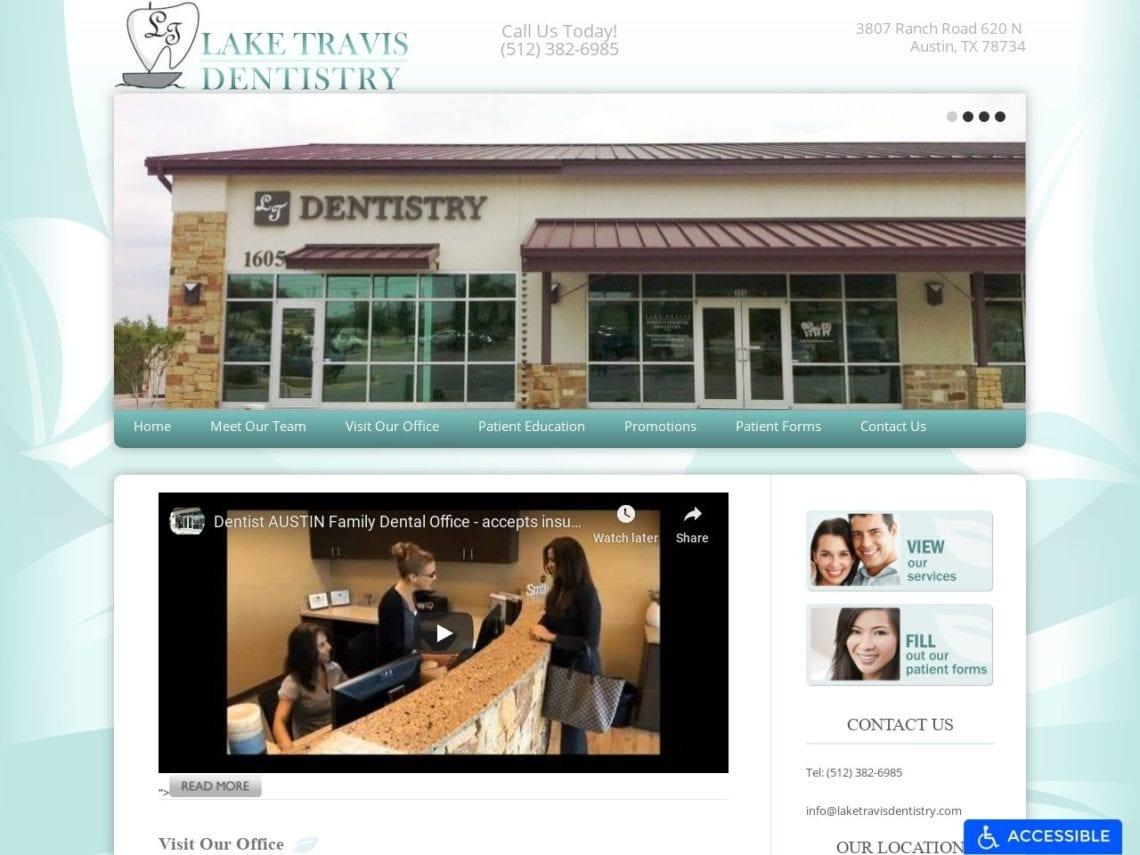 Lake Travis Dentistry Website Screenshot from url laketravisdentistry.com