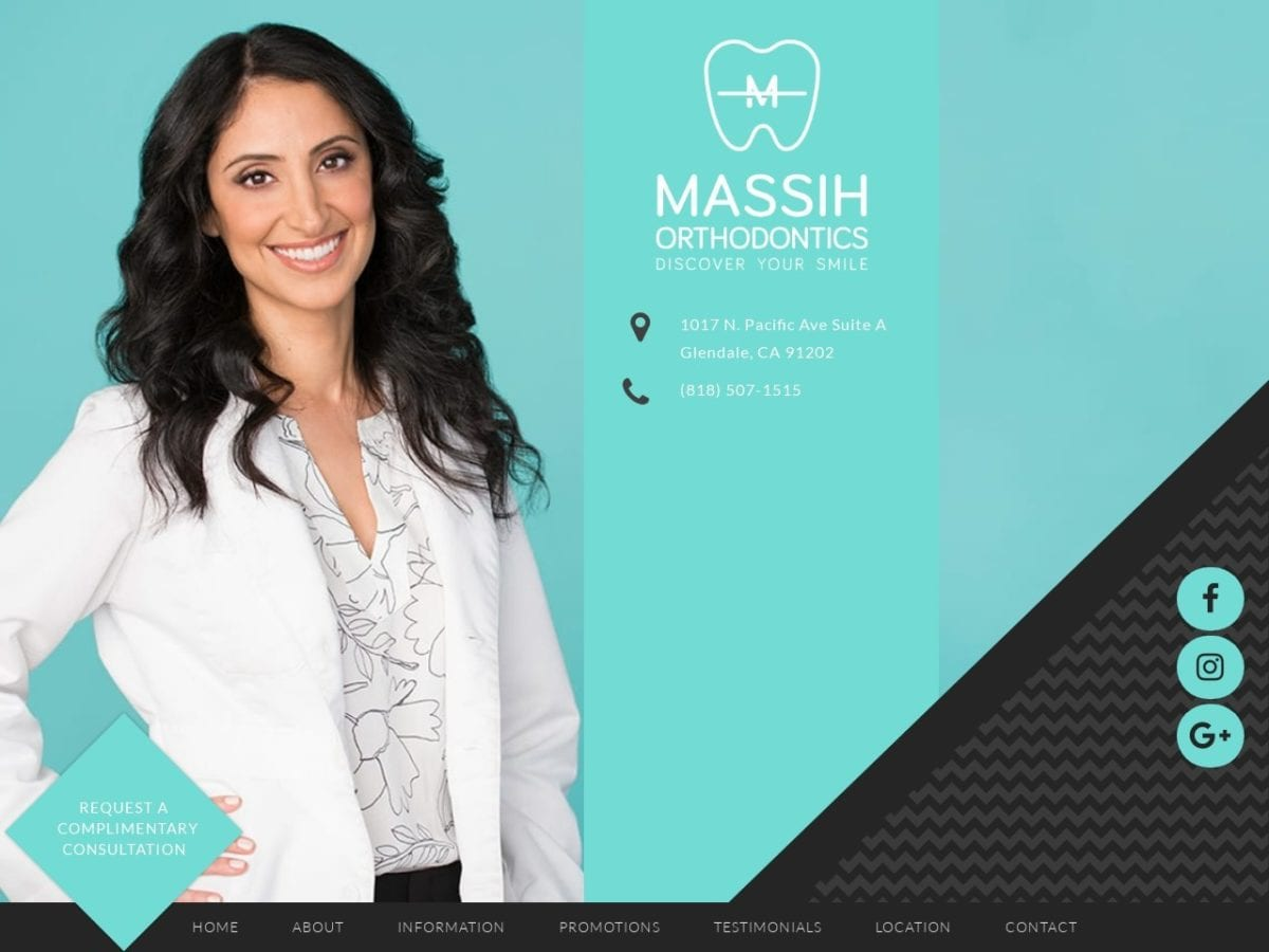 Massih Orthodontics Website Screenshot from url massihortho.com