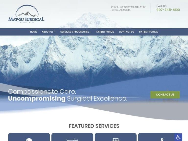 Mat-Su Surgical Associates Website Screenshot from url matsusurgical.com