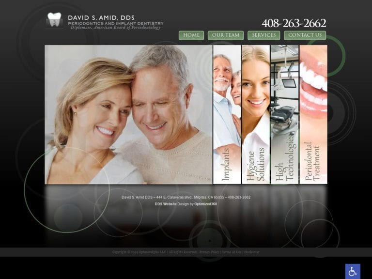 David Amid DDS Website Screenshot from url milpitasperiodontist.com