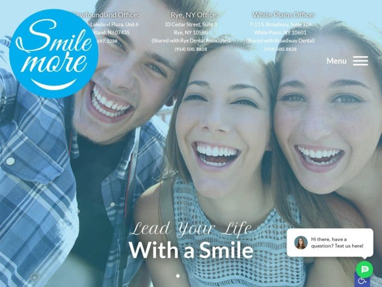 Smile More Orthodontics Website Screenshot from url mysmilemore.com