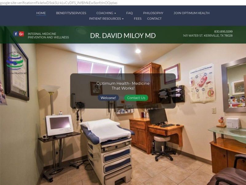 Partners in Wellness Website Screenshot from url optimumhealthdoc.com