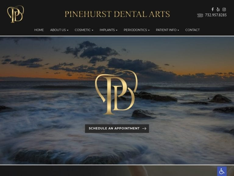 Pinehurst Dental Arts Website Screenshot from url pinehurstdentalarts.com
