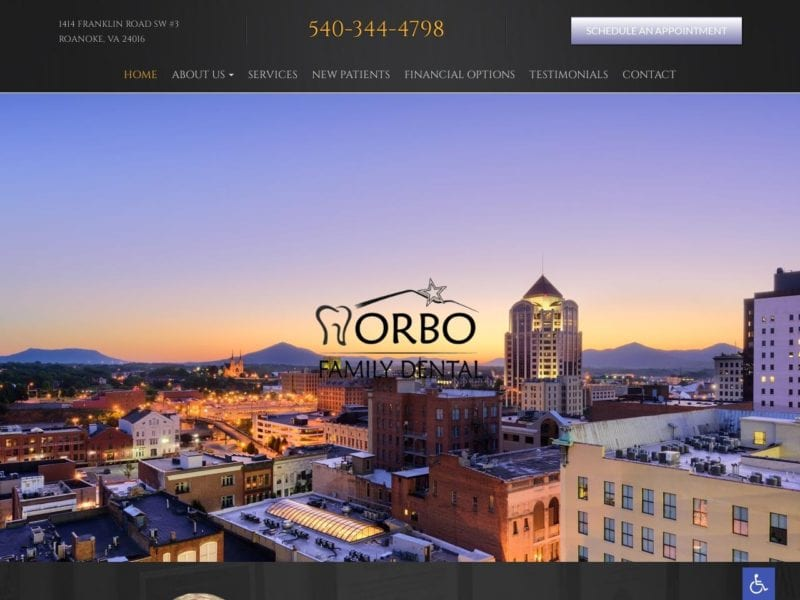 Randy Norbo DDS Website Screenshot from url randynorbodds.com