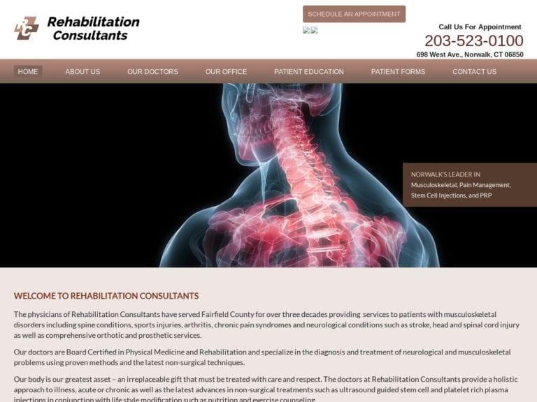Rehabilitation Consultants Website Screenshot from url rehabmdconsultants.com