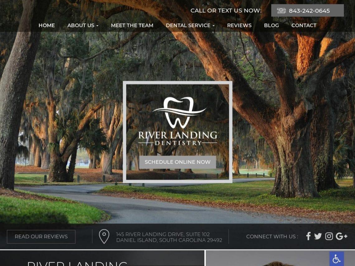 River Landing Dentistry Website Screenshot from url riverlandingdentistry.com