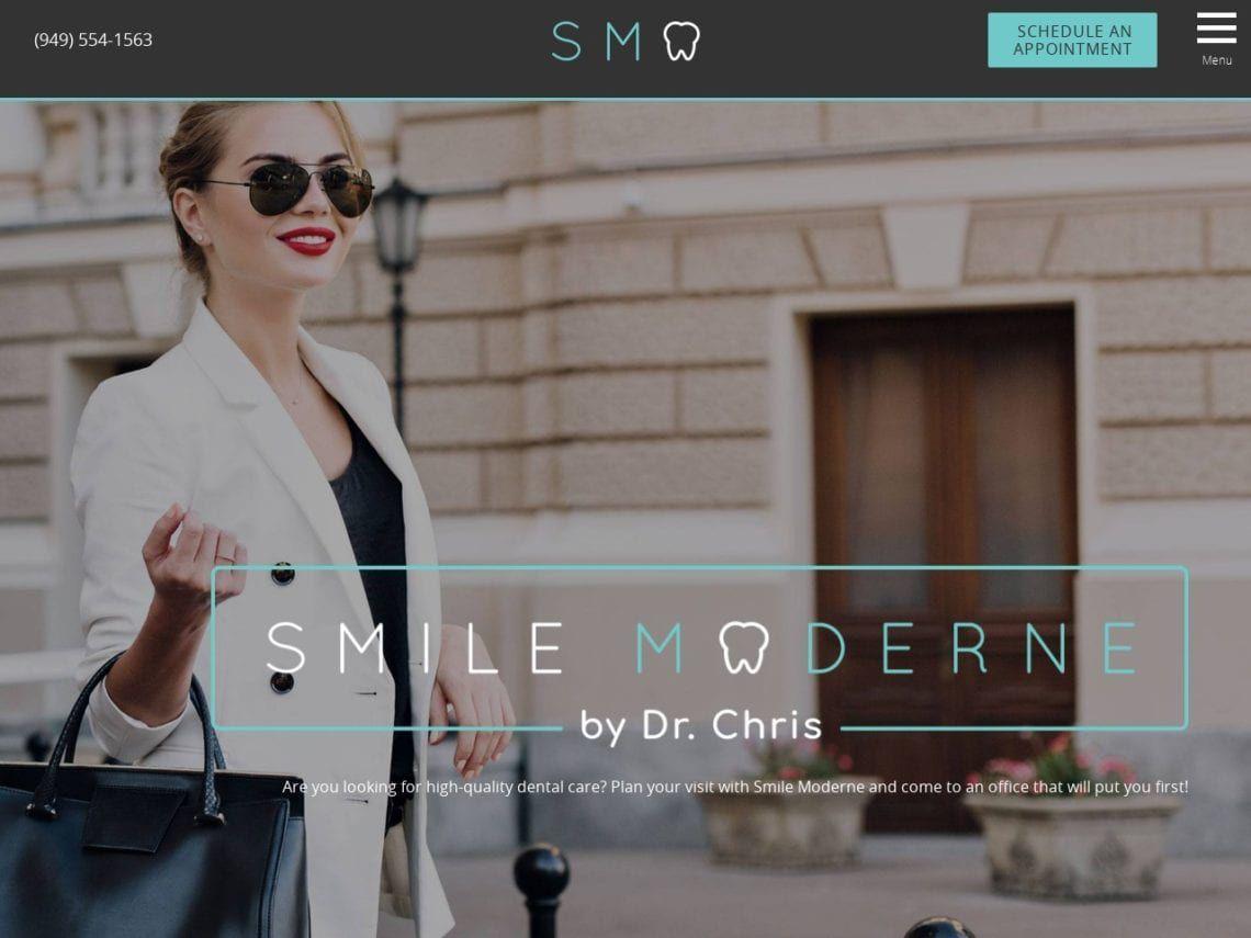Smile Moderne Website Screenshot from url smilemoderne.com