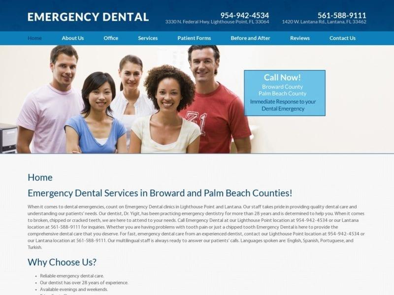 Emergency Dental Website Screenshot from url southfloridaemergencydental.com