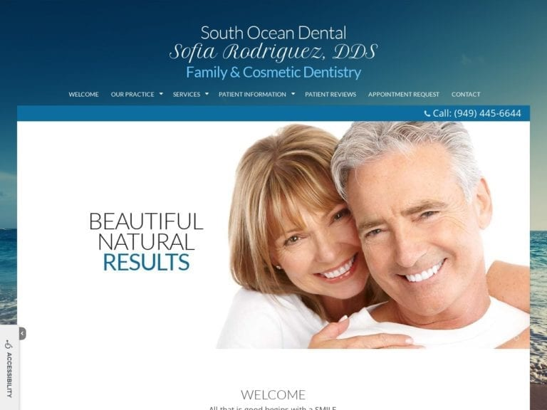 Lake Forest Dentistry Website Screenshot from url southoceandental.com