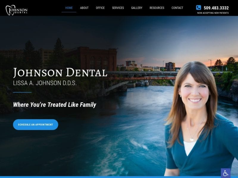 Spokane Dentist Dr Johnson Website