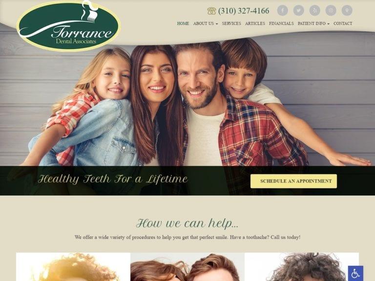 Torrance Dental Associates Website Screenshot from url torrancedentalassociates.com