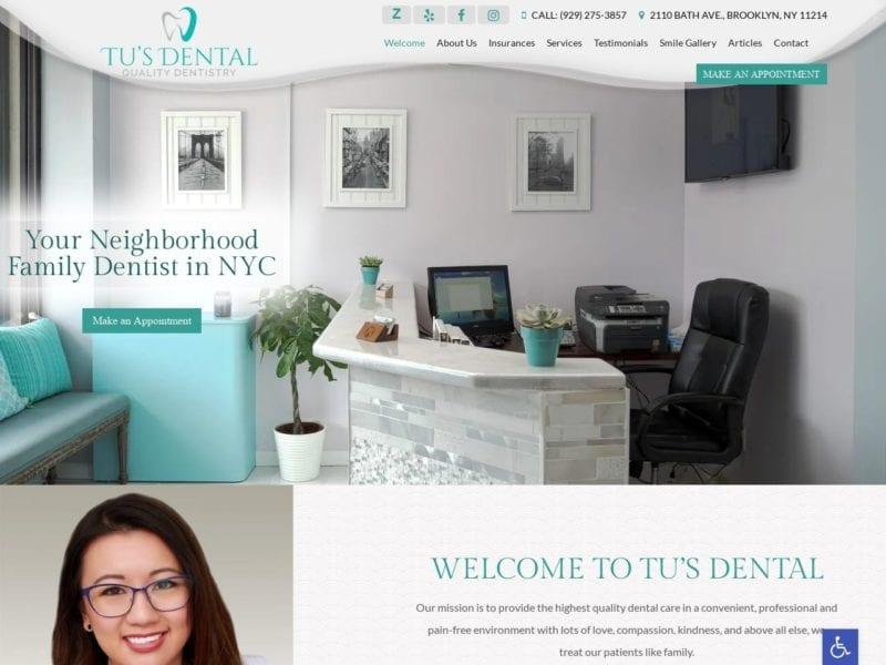 Tu's Dental Website Screenshot from url tusdental.com