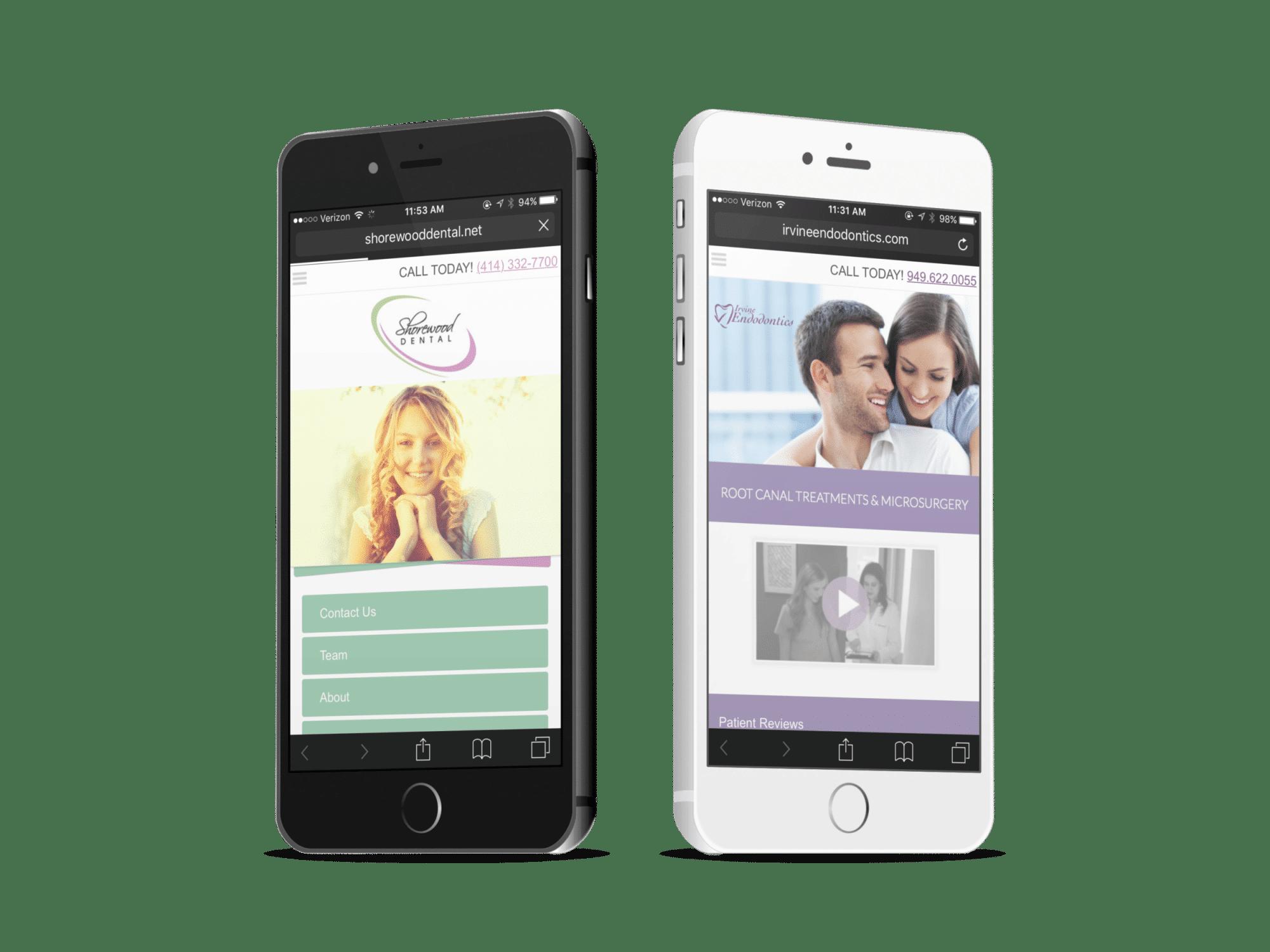 Two Endodontic Mobile Websites