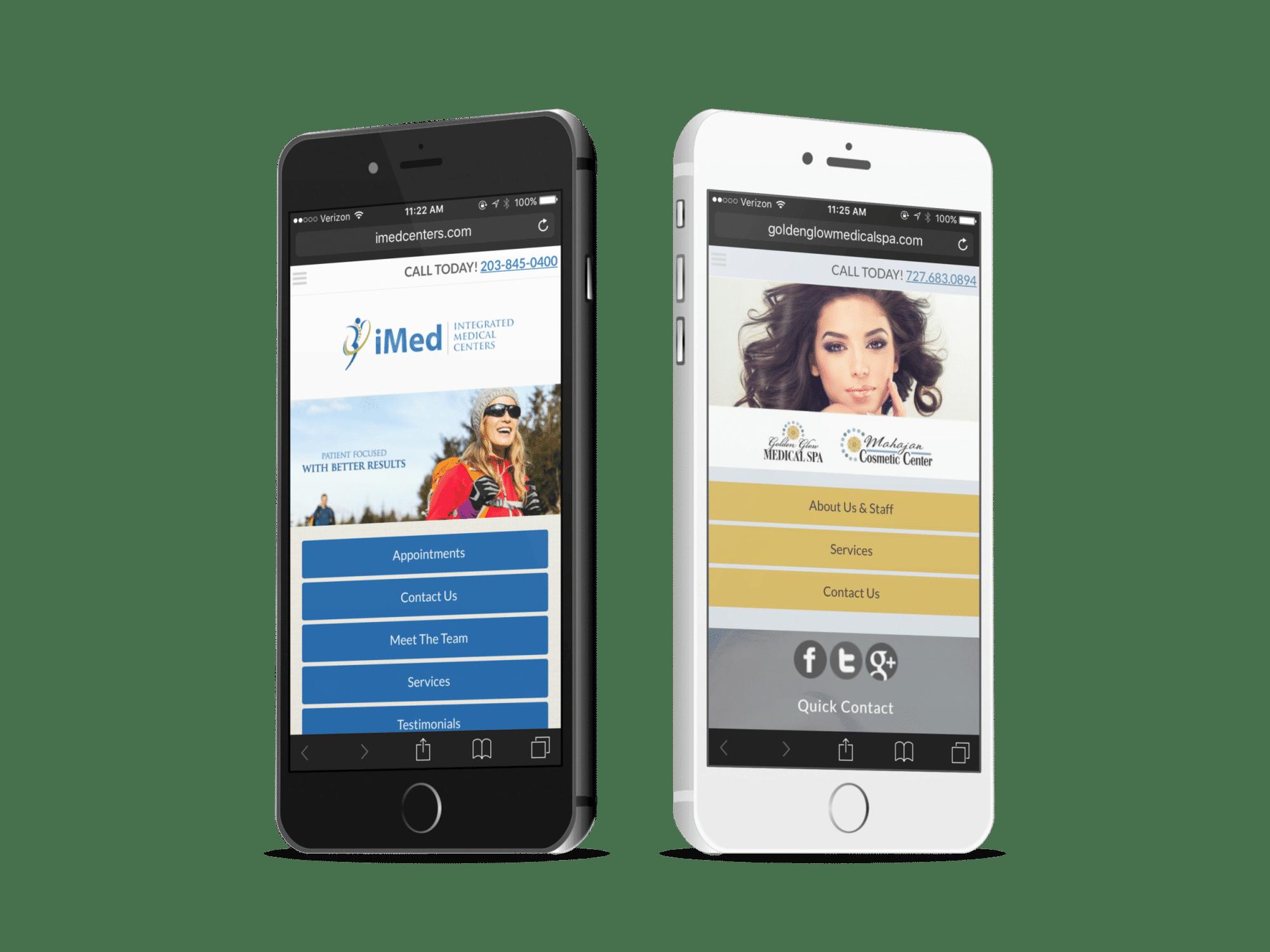 Two Holistic Alternative Medicine Mobile Websites