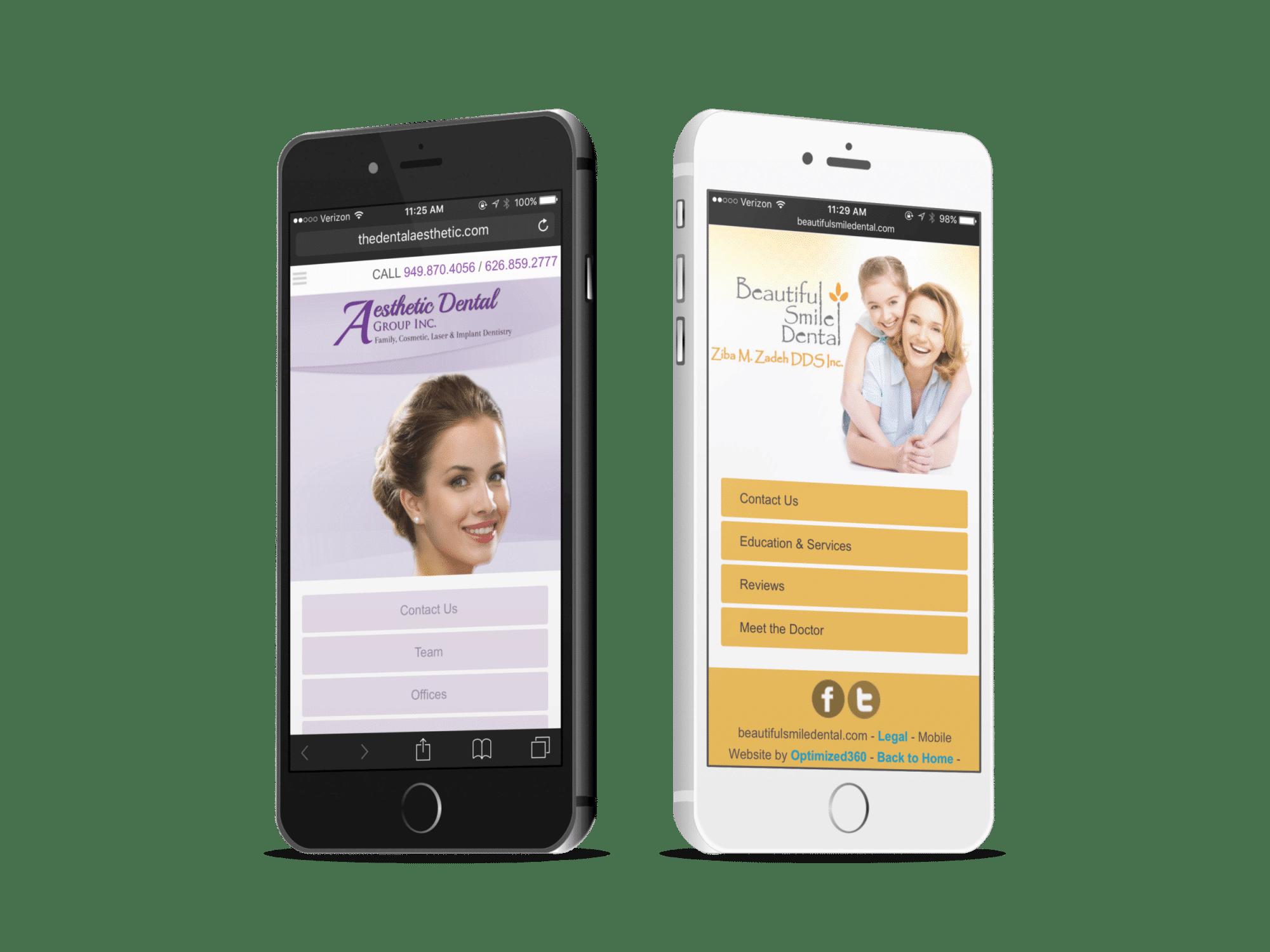 Two Prosthodontic Mobile Websites