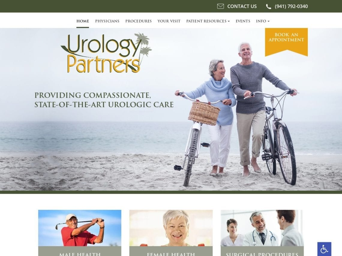 Urology Partners Website Screenshot from url urology-partners.com
