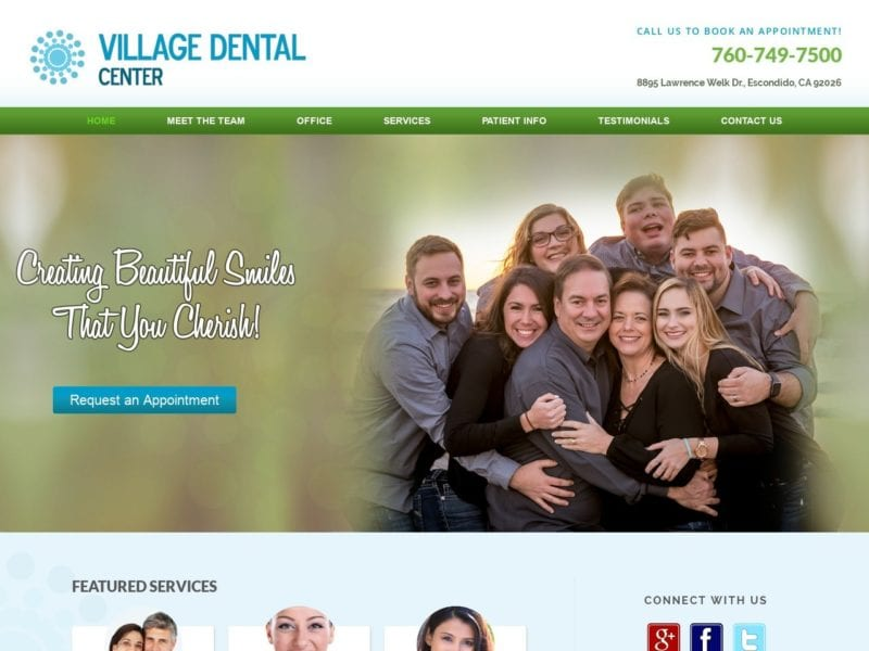 Village Dental Center Website Screenshot from url villagedentalctr.com