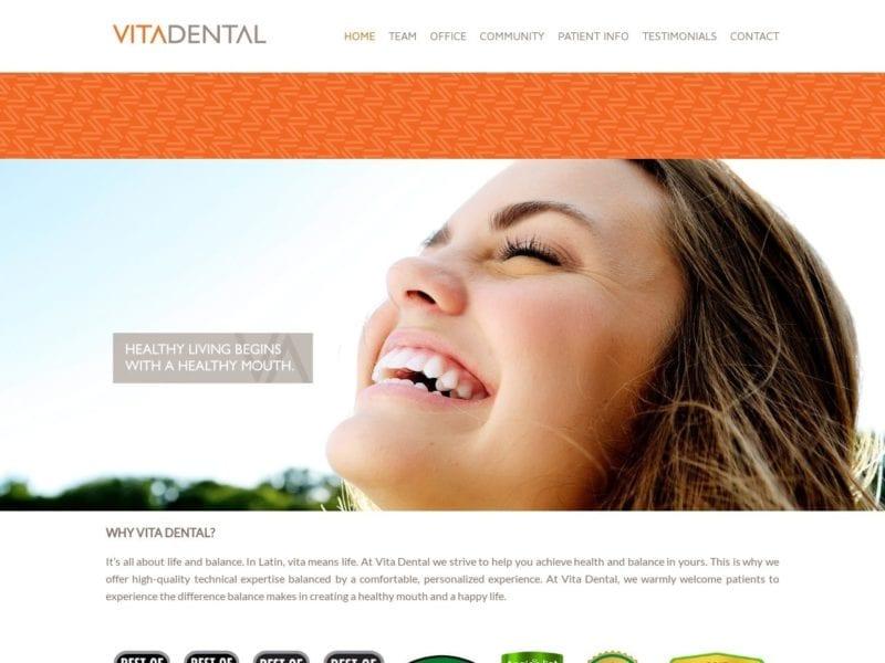 Vita Dental Website Screenshot from url vitadental.com