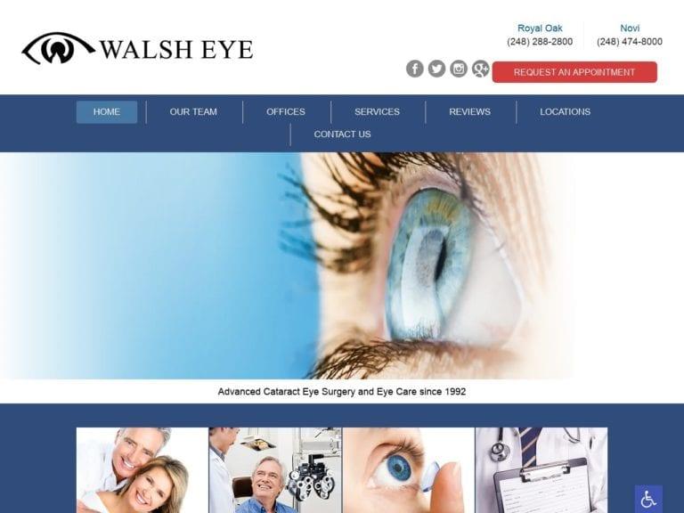 Walsh Eye Website Screenshot from url walsheye.com