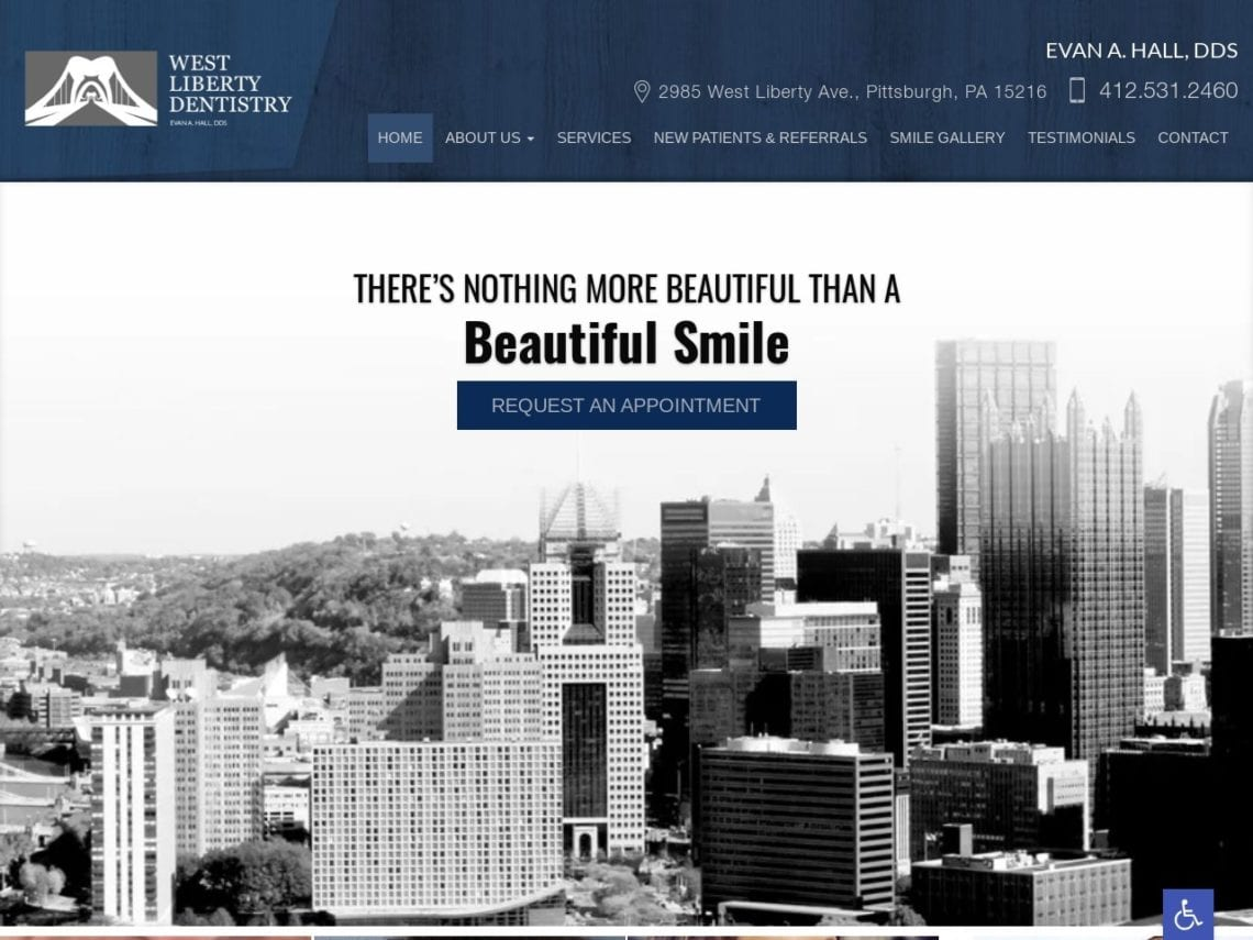 West Liberty Dentistry Website Screenshot from url westlibertydentistry.com