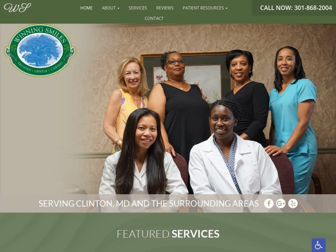Winning Smiles Family Dentistry Website Screenshot from url winningsmilesfamilydentistry.com