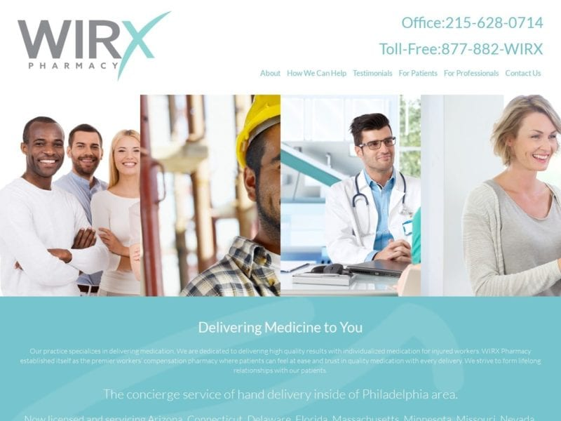 WIRX Pharmacy Website Screenshot from url wirxpharmacy.com