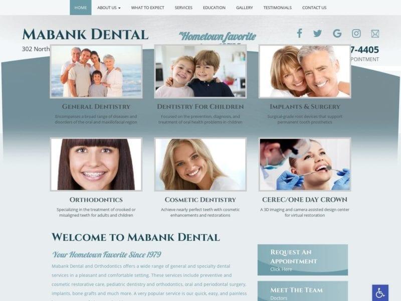 Mabank Dental Website Screenshot from url yourtexasdentist.com