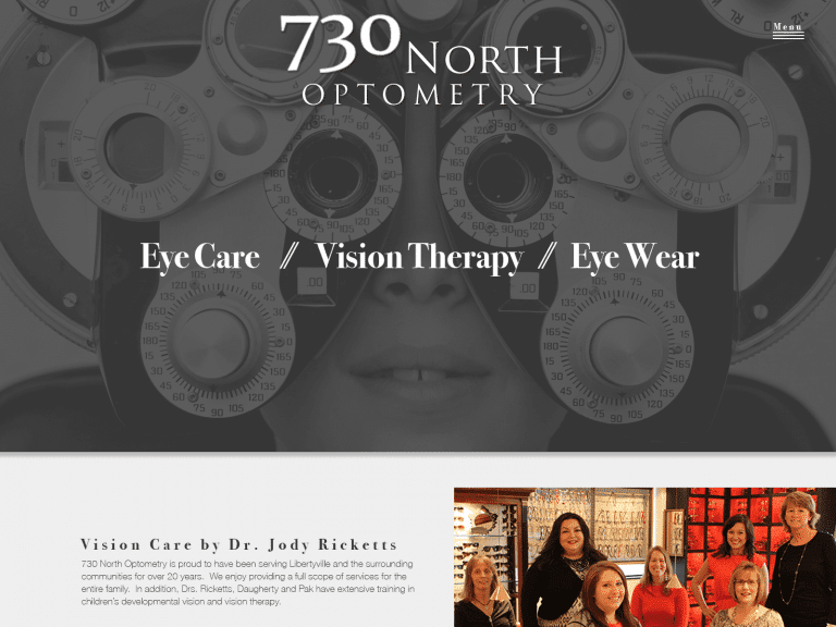 730 North Optometry Website Full Page 1600x1200