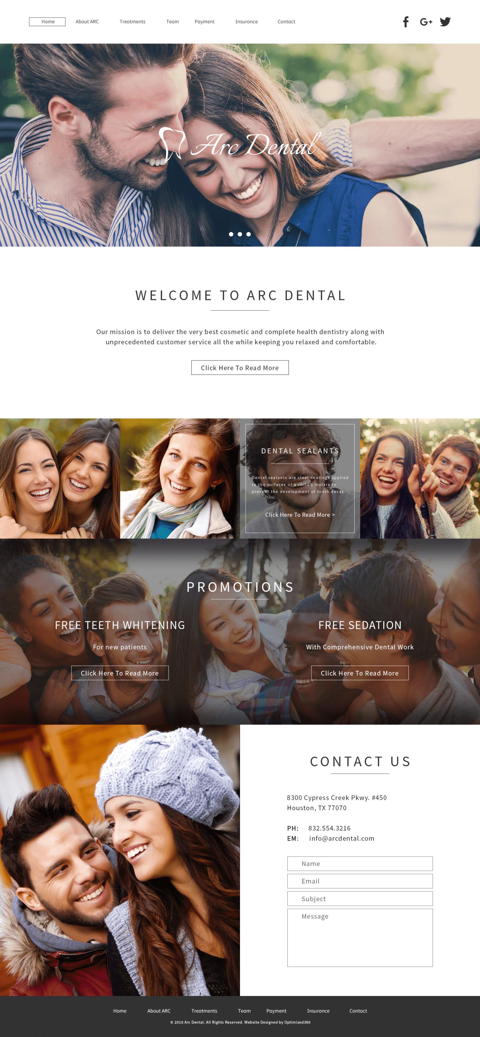 Art Dental Website