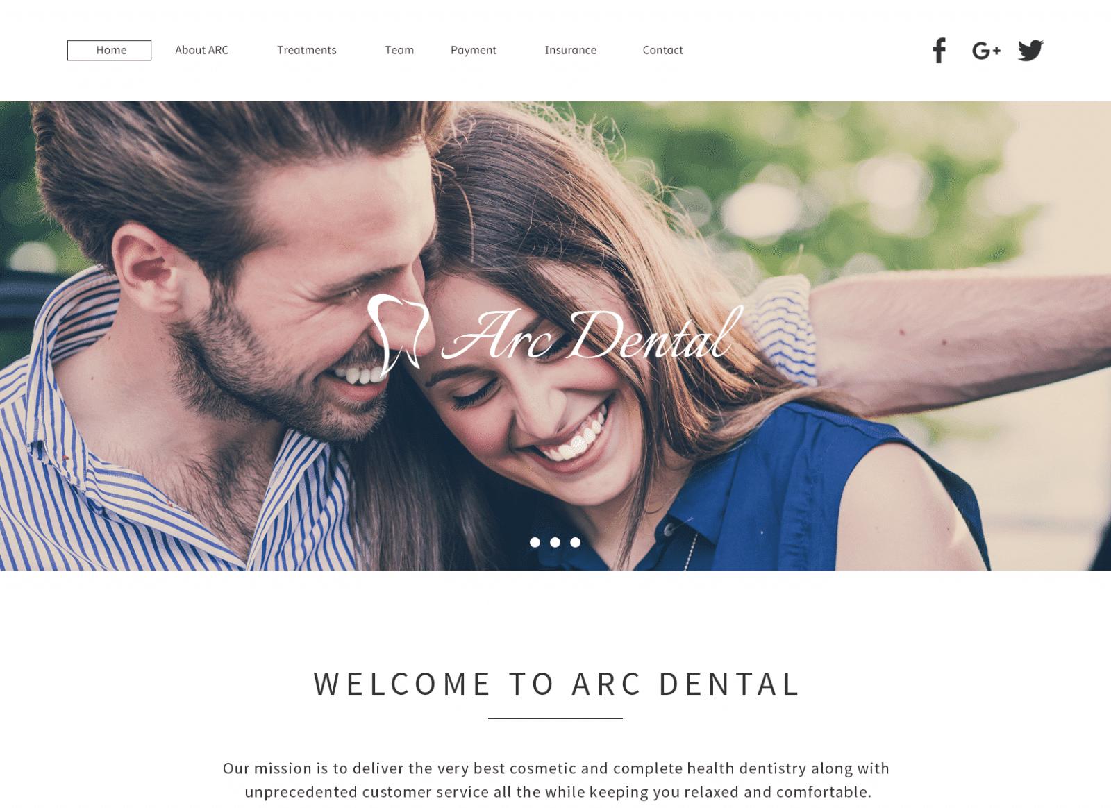 Art Dental Website Screenshot