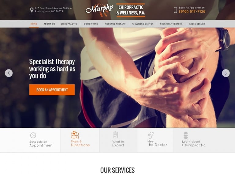 Murphy Chiropractic Center Website 1600x1200